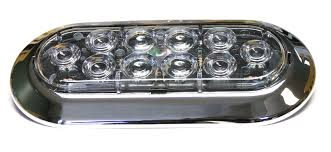 replacement 6 oval trailer led marker clearance lights with trim