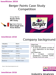 berger paints case study competition profit accounting