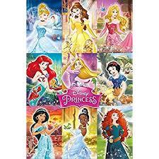 amazon disney princesses poster amazing princess group rare