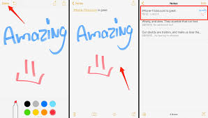 handwritten notes and sketches on iphone