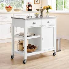 stainless steel top kitchen cart threshold stainless steel top kitchen island white office