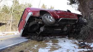 wrecked dodge trucks wreck on highway 70