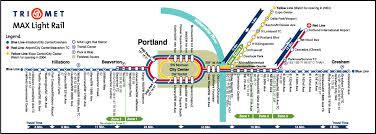 portland light rail map portland max light rail map portland oregon mappery
