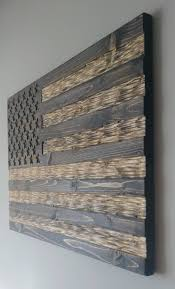 Flags American Wooden American Flag With Chisel Texture Rustic Flag Wooden Flag