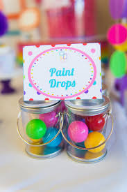 Gumball Party Favors Rainbow Art Birthday Party Lillian Hope Designs