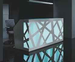 Illuminated Reception Desk Zig Zag Illuminated Reception Desk Connections At Home Ltd Esi