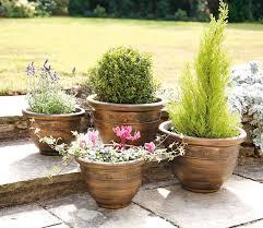 greenhurst pack of four plastic antique bronze effect planters