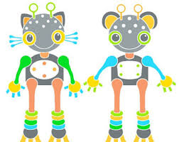 Wall Art For Kids Room by Robot Art Etsy