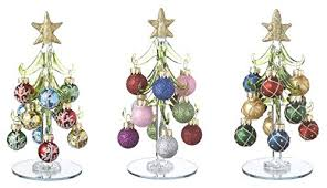 ganz blown glass 6 trees with