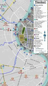 bangkok map tourist attractions thonburi tourist attractions map teakdoor the thailand forum