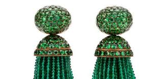 hemmerle earrings hemmerle emerald and tsavorite tassel earrings diamonds in the