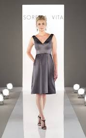 charcoal grey bridesmaid dresses sophisticated satin bridesmaid dresses sorella vita