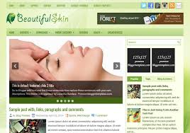 beautifulskin green blogger template u2022 blogspot templates 2017