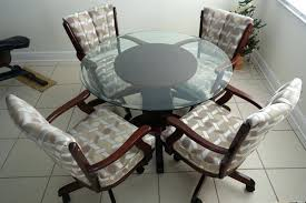 dinette table and chairs with casters dining room sets with chairs on casters table custom chairs dining