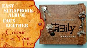 leather bound scrapbook srapbook album with faux leather cover also for beginners
