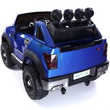 metallic blue jeep ford ranger wildtrak style 12v child u0027s electric ride on jeep
