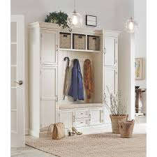 hall tree bench home decorators collection royce polar white hall tree 7474200410