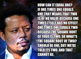 Black Science Man Meme - terrence howard thinks 1x1 2 has a secret system called
