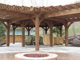 Gazebo Fire Pit Ideas by Diy Gazebo Pergolas Swing Set U0026 Picnic Table Western Timber Frame