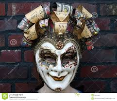 venetian carnival mask girl wearing a venetian carnival mask normal gaze stock image