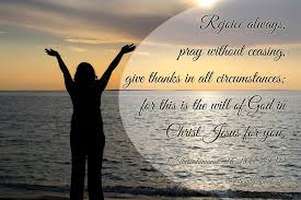 short prayer thanksgiving rejoice always pray continually and give thanks