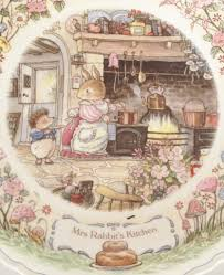 Kitchen Collectables Nivag Collectables Wedgwood Foxwood Tales Mrs Rabbit U0027s Kitchen