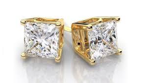 9ct gold stud earrings diamonds square diamond stud earrings gratefulness half carat
