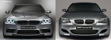 photo comparison bmw e60 m5 concept vs f10 m5 concept