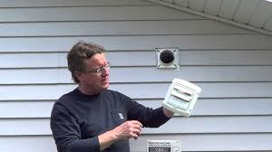 How To Replace A Bathroom Fan Dryer Vent Cover Youtube