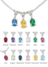 birthstone necklaces for mothers pendants necklaces s birthstone pendant creative
