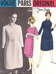 jean desses 1960 u0027s vogue 1250 paris dress and coat pattern