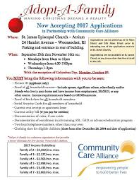 adopt a family applications process for community care alliance