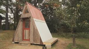 small a frame cabin plans transforming a frame micro cabin you can build for 1200