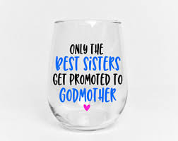 Godmother Wine Glass Godmother Glass Etsy
