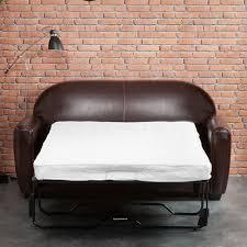 petit canapé 2 places convertible canapé croûte de cuir enduite bycast brun tennessee 3 places