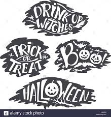 happy halloween calligraphy backgrounds vector banner signs stock