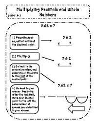 multiplying decimals multiplying decimals and whole numbers interactive notes by abseas