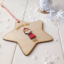personalised father christmas tree decoration by just toppers