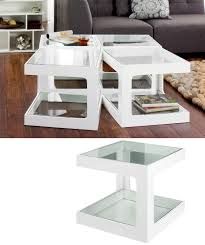 White Side Tables For Living Room White Living Room Tables Glass Side Table Wood And Pertaining To