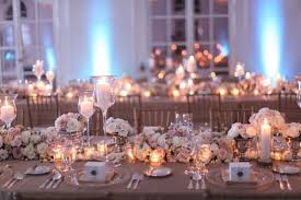wedding table decoration beautiful wedding table decorations with lighting of some candle