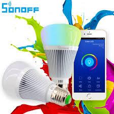 alexa light switch dimmer sonoff b1 led bulb dimmer wifi smart light bulbs remote control wifi