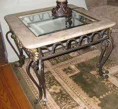 wrought iron end tables moving sale everything must go marble glass wrought iron coffee