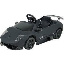 kalee 12v lamborghini murcielago ride on car flat black walmart com
