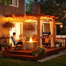 Home Design For Outside Outdoor Patio Pergola Design And Lighting Ideas Multifunction