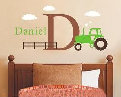 wandtattoo kinderzimmer name große traktor wandtattoo set jungen name und erste aufkleber