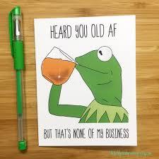 Meme Happy Birthday Card - funny frog none of my business birthday card internet meme card