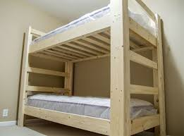Plans For Building A Loft Bed With Stairs by Easy And Strong 2x4 U0026 2x6 Bunk Bed 6 Steps With Pictures