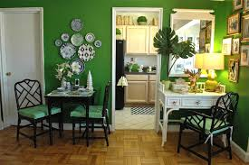 Green Dining Room Green Trending Eclectic Dining Room New Orleans By