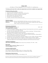 Technical Skills Resume Examples by Perfect It Support Resume Sample Template With Summary Of