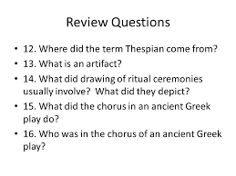 review questions what are three activities theories theatre may